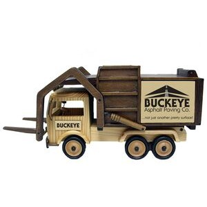 Wooden Garbage Truck with Forks - Gourmet Jelly Bellys Candy