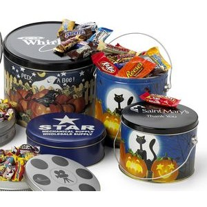 2 Gallon Designer Pail w/ Individually Wrapped Assorted Candy Bars