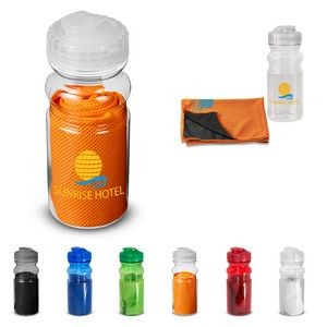 Cooling Towel in Water Bottle