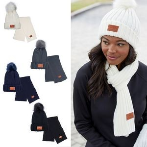 Leeman™ Ribbed Knit Winter Duo Beanie & Scarf