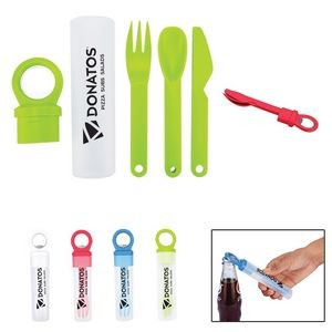 Plastic Utensil Set w/Bottle Opener